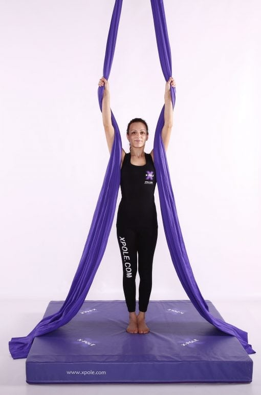X Pole Purple aerial silks
