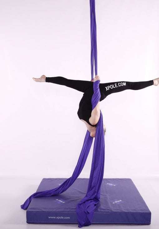 X Pole Purple aerial silks inverted two sizes