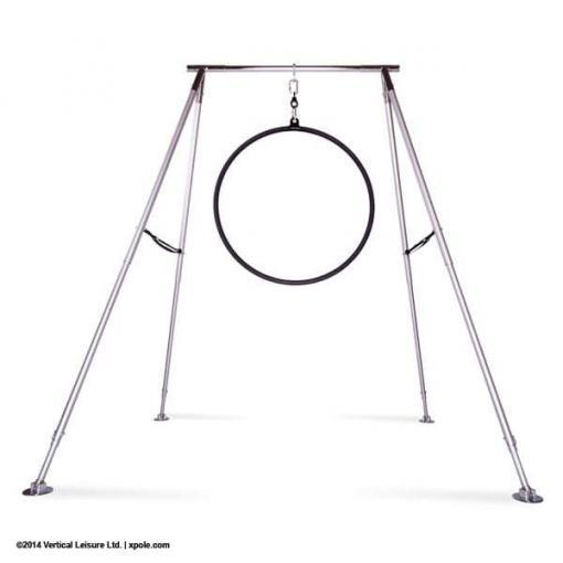 x Pole A Frame with lyra hoop aerial fitness equipment home