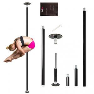 Lupit Classic G2 powder coated black diamond pole dancing pole spinning static home portable kit