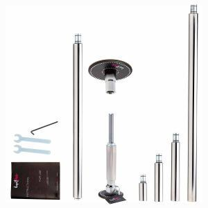Lupit Diamond classic dance pole kit package 42mm 45mm stainless steel chrome