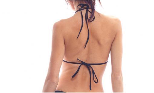 lace print keyhole halter top bodyzone back view pole dance