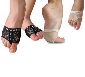 black nude sparkle bling half sole pole dancing shoe lyrical yoga foot undies undeez protection