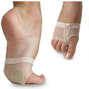 half sole lyrical pole dance shoe foot undies undeez paws protection nude front