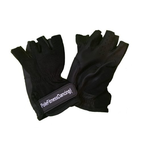 non tacky grip glove for pole dancing fitness front back
