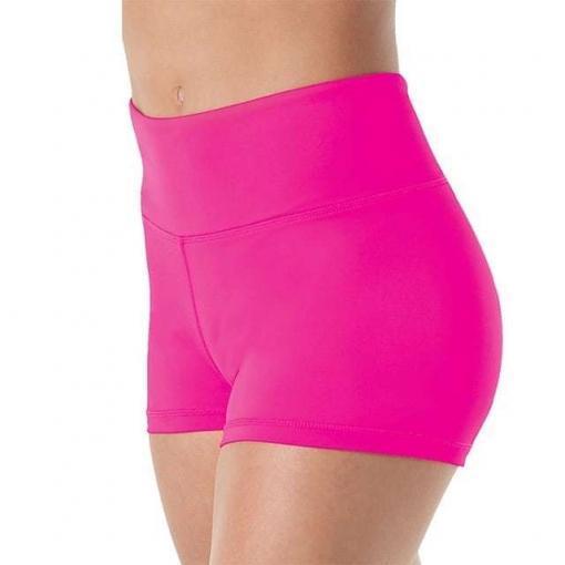 Women-High-Waisted-Lycra-Spandex-pole-Dance-empire-Shorts-adult-Workout-Dancing-Shorts hot pink