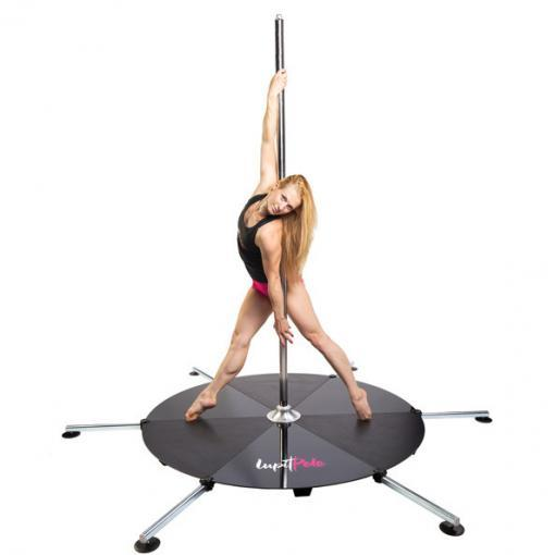 Lupit freestanding portable stage base platform dance pole dancing long legs
