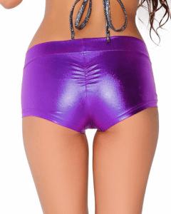Womens-Low-Waisted-Sexy-Lycra-Metallic-Rave-Booty-Dance-Shorts-Spandex-Shiny-Pole-Dance-Shorts-scrunch-back-purple-2
