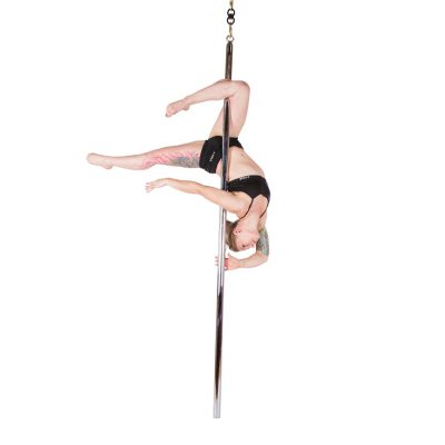 X-FLY-Pro-45mm-chrome- flying dance pole