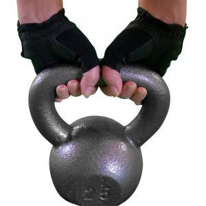 NT-leather-womens-glove-on-kettlebell black gym workout fitness calluse prevent