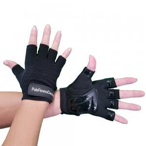 Partial Tack GLoves black womens mens grip dry sweaty hand pole dancing fitness workout