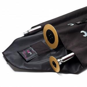 lupit dance pole carry bag case edge view with pole grip pocket