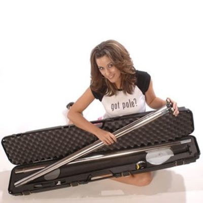 Lil Mynx pro dancing stipper pole portable chrome stainless with carrying bag case