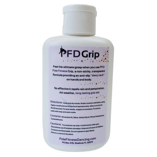 PFD pole dancing grip aid dry hands dance liquid gel back view