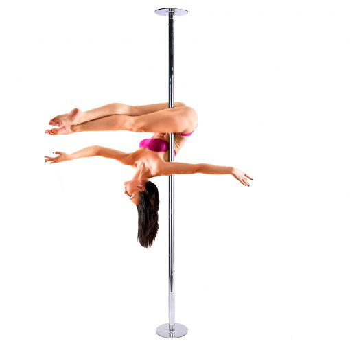 FLAT DOME chrome 45mm adjustable spinning removable pole dancing pole kit for stripper dance fitness home use kit