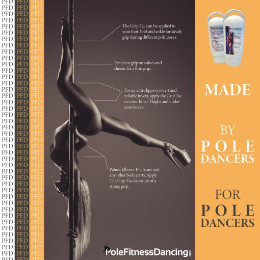 Liquid chalk for pole dancing