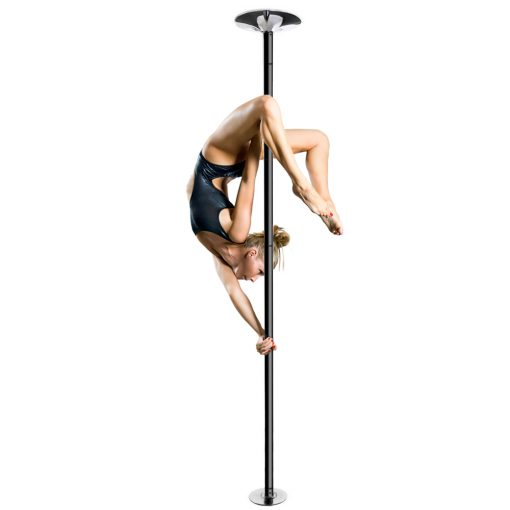 PFD black powder coated spinning static dancing pole for home studio use club fitness stipper dance practice