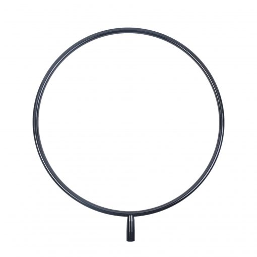 A black powder coated lupit lollipop for a lupit portable freestanding dance pole stage