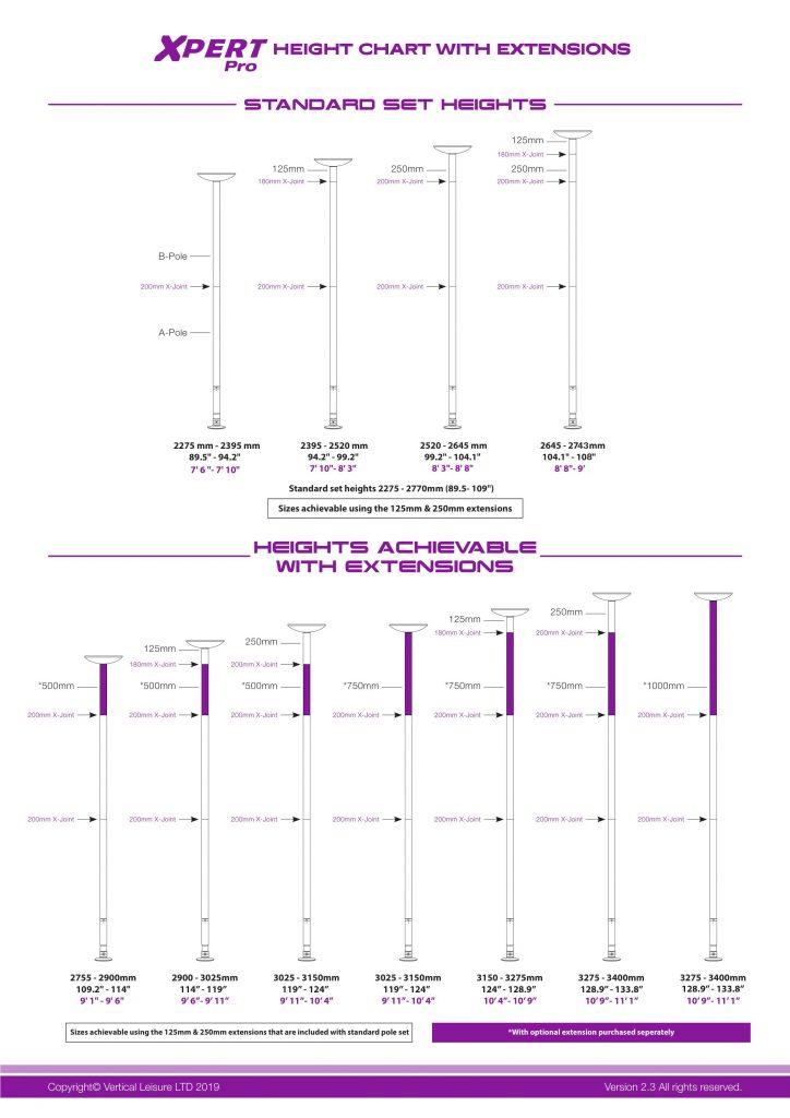 Xpert Pro Height Chart Dancing Pole (1)