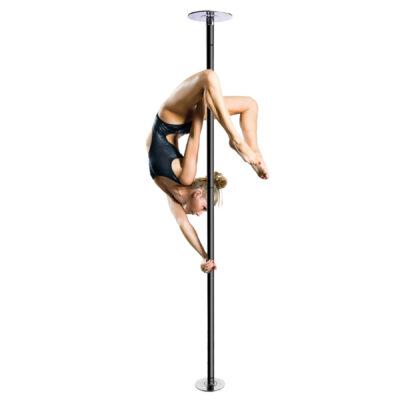 Pole Fitness Dancing Black Powder Coated Flat Dome Dance Pole