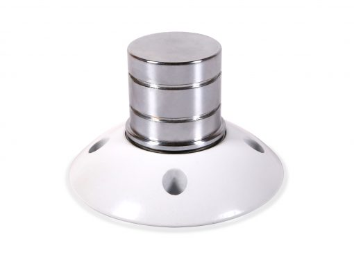 X-Pole White Powder Coated Home Mount with short shaft inserted